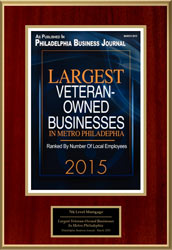 Largest Veteran-Owned Business 2015